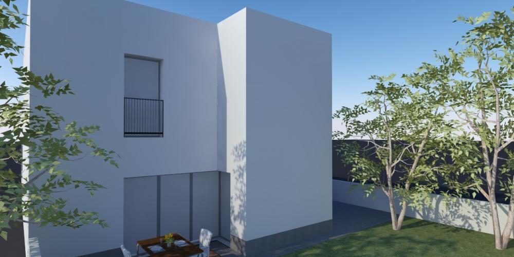 Sagres Algarve Villa-Architektur-Design 3D-Arbeiten Bau Architektur