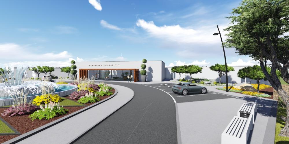 Hotel Ferragudo Lagoa Algarve Architecture Project 3D