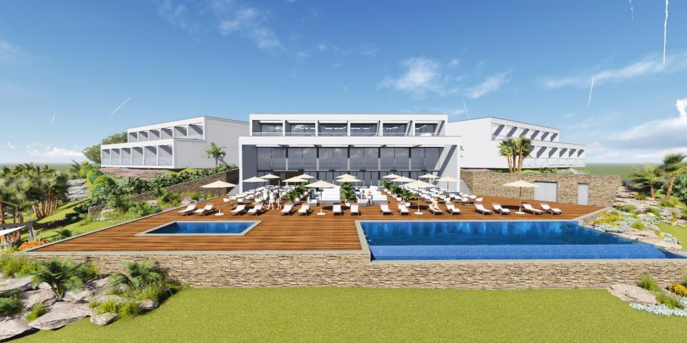 Projet Hôtel Ferragudo Lagoa Algarve Architecture 3D