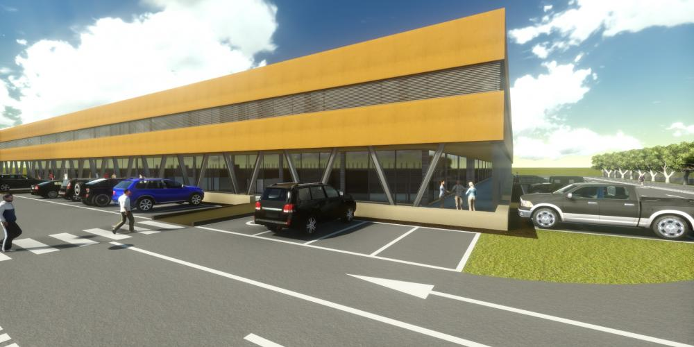 wenige Minuten vom Flughafen Luanda architektonischen Bauarbeiten 3D Afrika schützen