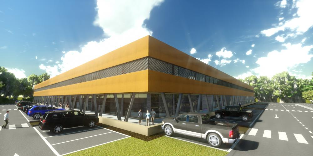 Center business Luanda protect architecture construction work 3D africa