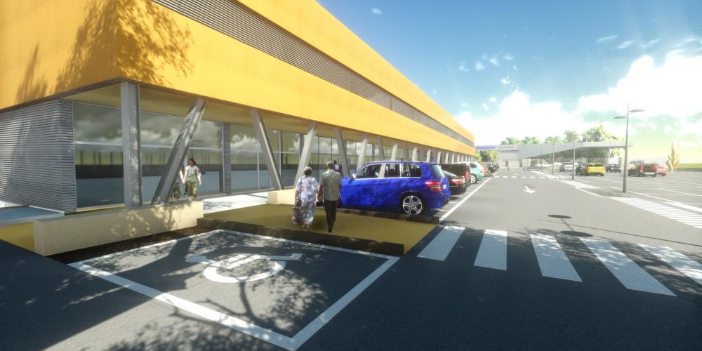 وسط المدينة التجارية لواندا حماية أعمال البناء المعماري 3D أفريقيا