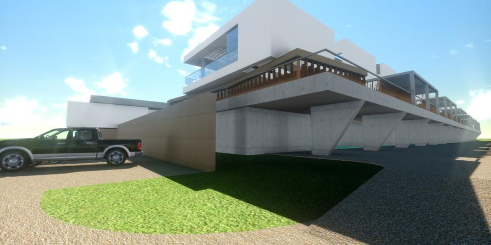 Tourist Village Portimão Algarve Projekt 3D-Architektur