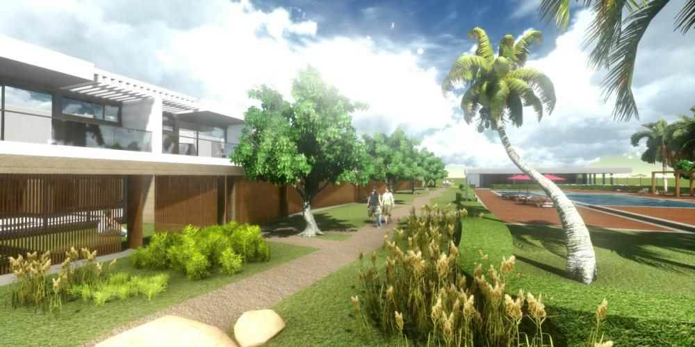 Turisti Portimão Algarve kylä Project 3D Arkkitehtuuri