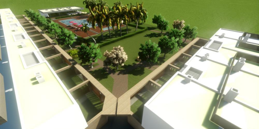 Pueblo turístico de Portimão Algarve Arquitectura 3D Proyecto