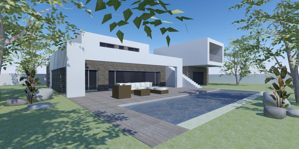 unifamiliale isolée villa carvoeiro travail Algarve lagon conception Architecture de construction