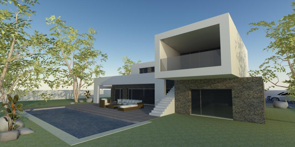 moradia isolada unifamiliar carvoeiro lagoa algarve projeto arquitetura arquitectura obra de construção