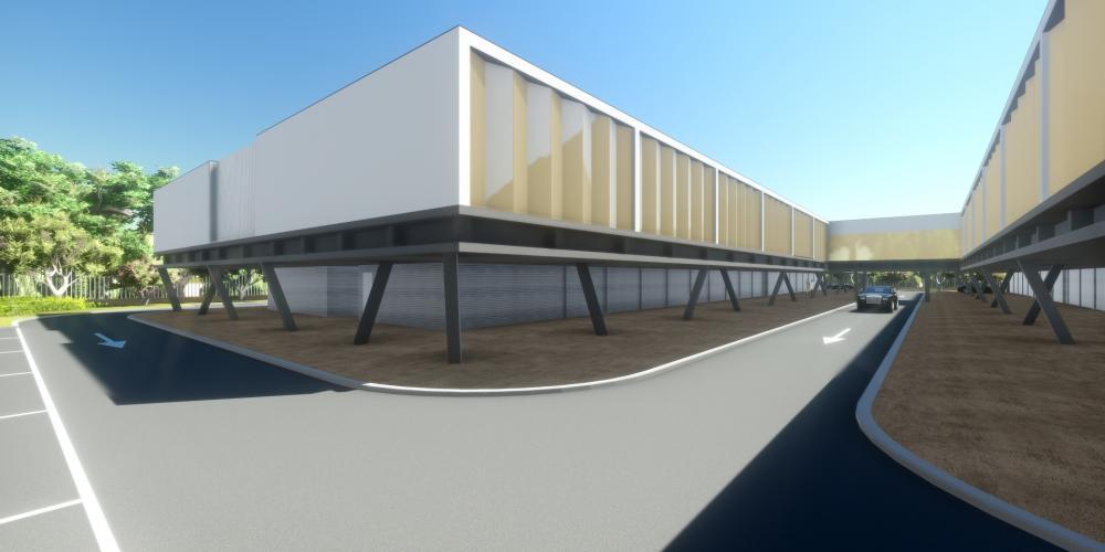 汽車旅館羅安達項目3D建築工作建設遊客住宿