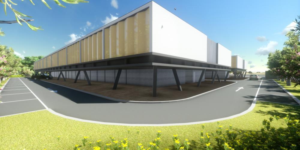 motel projet Luanda 3D immeuble de travaux d'architecture d'hébergement touristique
