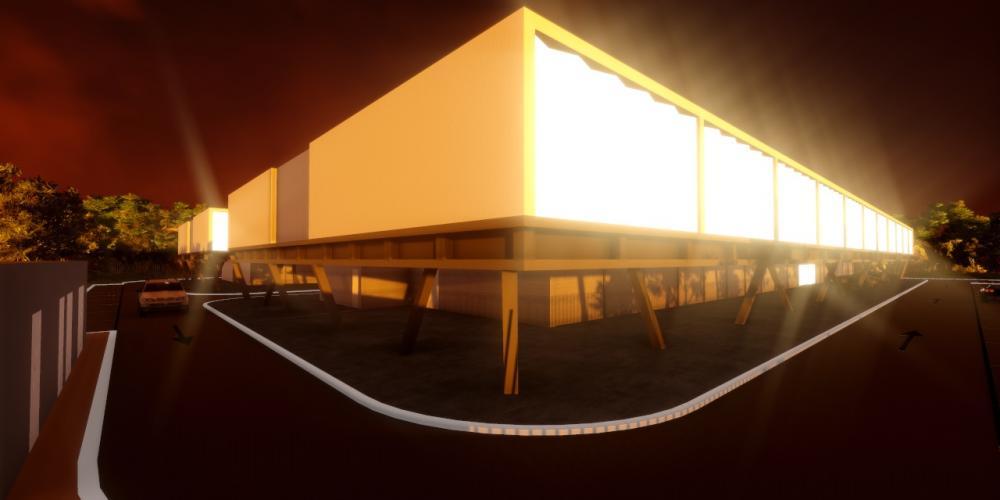 Motel Luanda Projekt 3D-Architektur-Arbeit Gebäude Beherbergungs
