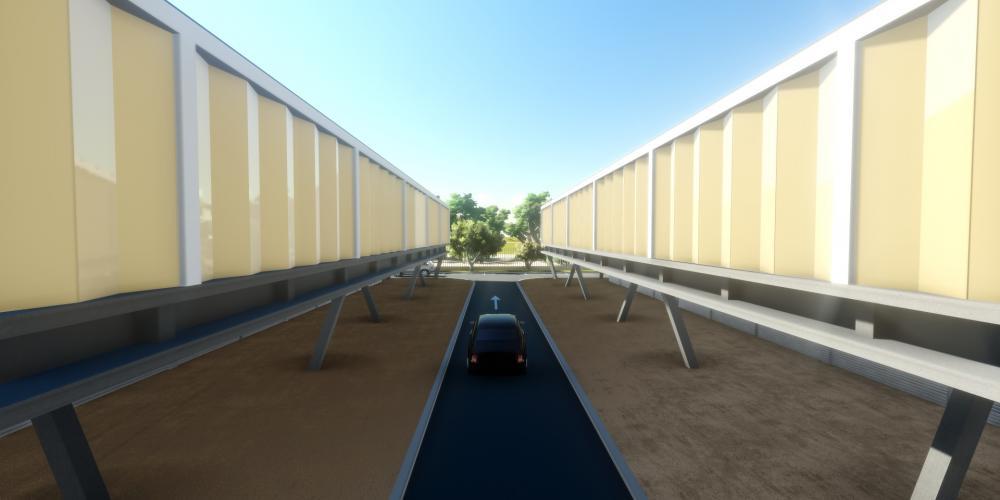 proyecto Luanda motel 3D alojamiento turístico configuración edificio trabajo
